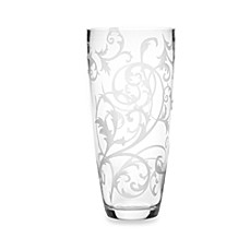 Mikasa® Parchment Engraved 9-Inch Glass Vase