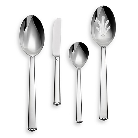 Waterford® Lismore Bead Stainless 4-Piece Hostess Set
