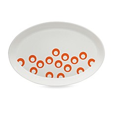 Mikasa® Circle Chic Orange 14 1/4-Inch Oval Platter