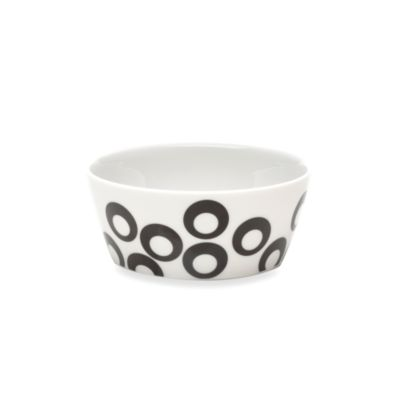 Mikasa® Circle Chic Black 4 1/4-Inch Fruit Bowl