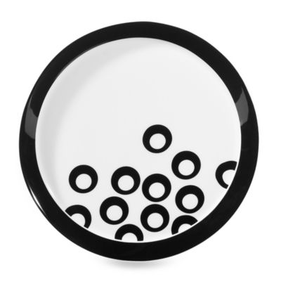 Mikasa® Circle Chic Black 8 1/4-Inch Salad Plate