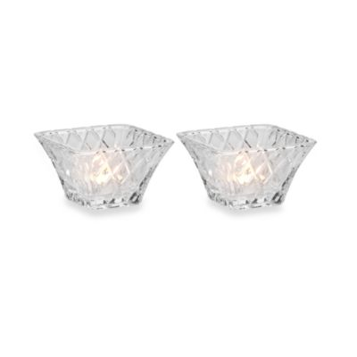 Mikasa® Diamond Sparkle Votive Holders with Tealight Candles (Set of 2)