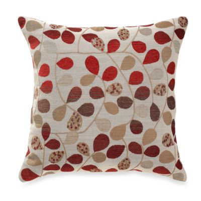 Bayberry Rouge 20-Inch Square Throw Pillow