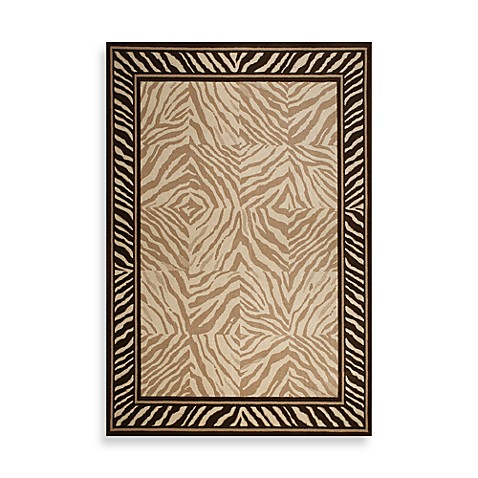 Tommy Bahama Animal Print Zebra Rug