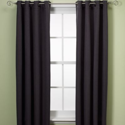 Reina 84-Inch Grommet Window Panel in Black/Silver