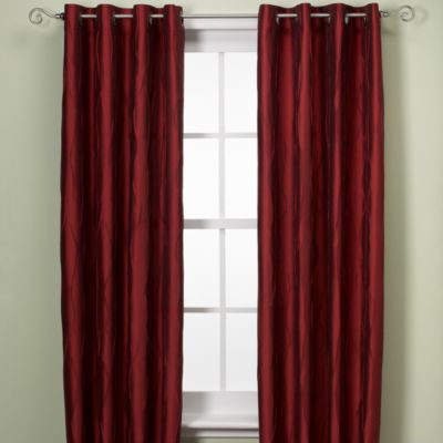 Venice Window Curtain Panel - 108-Inch - Red