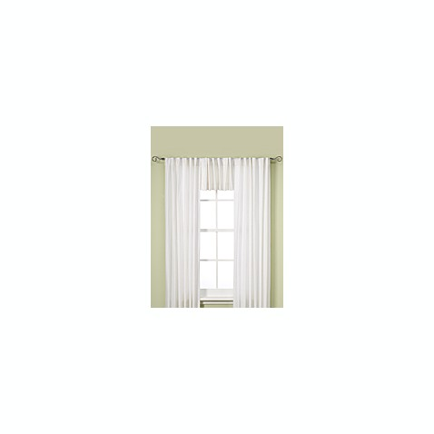 Henley Room Darkening Thermal Lined Rod Pocket/Back Tab Window Valance in White