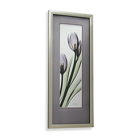 X Ray Purple Floral Tulip 32 Inch L X 14 Inch W Wall Art