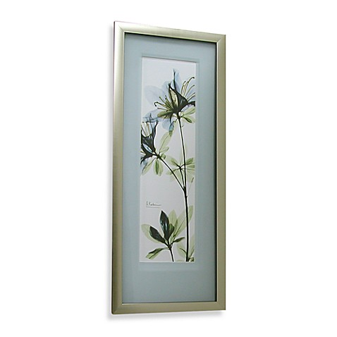 X Ray Blue 32 Inch X 14 Inch Floral Iii Wall Art Bed