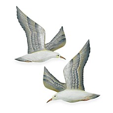 Hand Carved Flying Seagulls