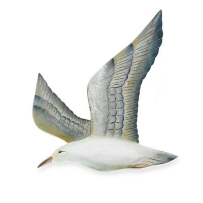 Hand Carved Flying Seagull in Left