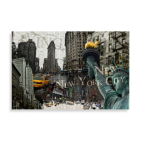 Vintage New York Collage Wall Art