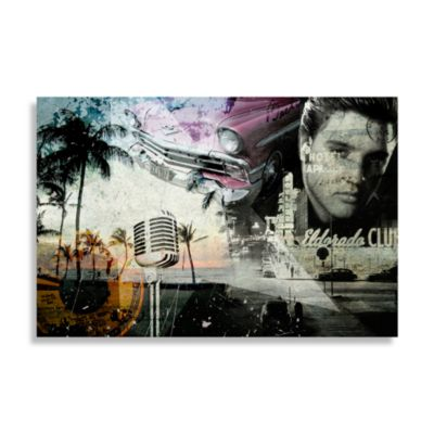 Vintage Elvis Collage Wall Art