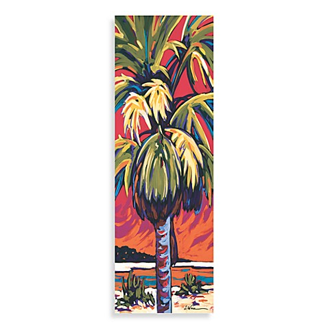 Palm Panel Red Wall Art