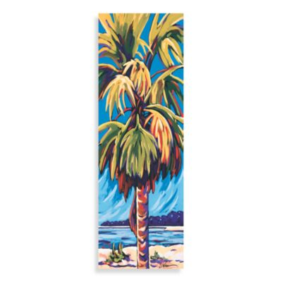 Palm Panel Blue Wall Art
