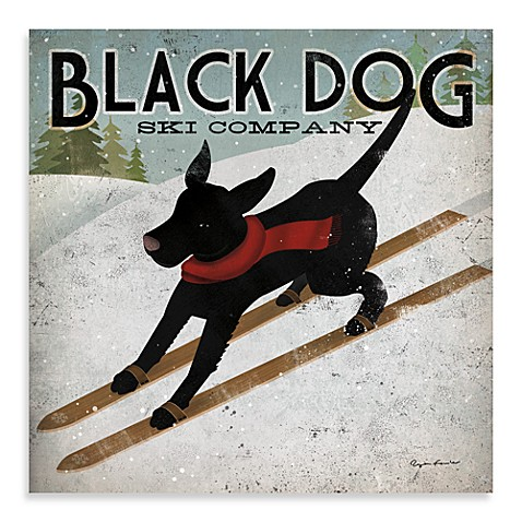 Black Dog Ski 12-Inch x 12-Inch Wall Art