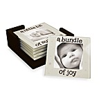 Baby Glass Photo Coasters with Wooden Holder (Set of 6)