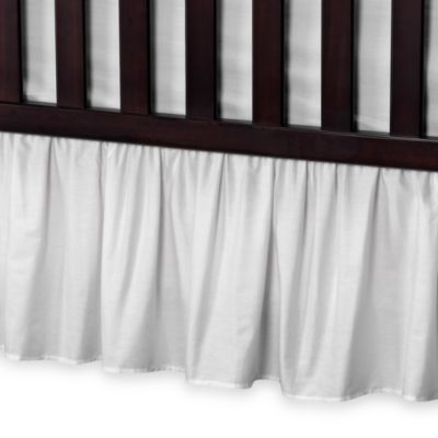 T.L. Care Cotton Percale Crib Bed Skirt in White