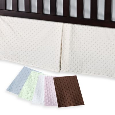 TL Care Blue Dot Crib Skirt