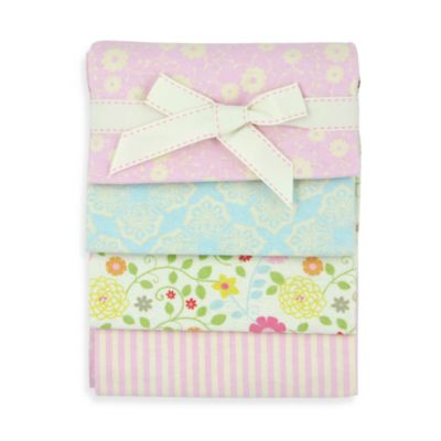 Lullaby Breeze 4-Pack Flannel Blankets by Jill McDonald