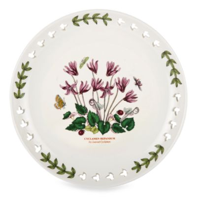 Portmeirion® Botanic Garden Cyclamen 8.5-Inch Pierced Plate