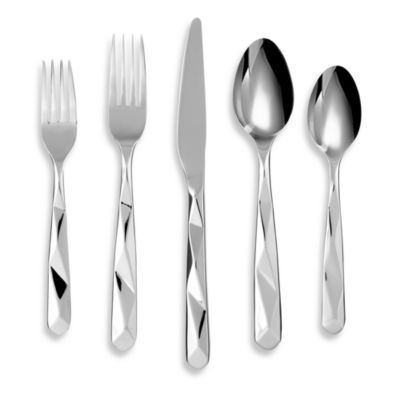 Cambridge® Silversmiths Facet Mirror 20-Piece Flatware Set