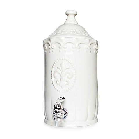 Bianca 192-Ounce Beverage Dispenser in White