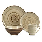 Sango Patio Brown 16-Piece Dinnerware Set