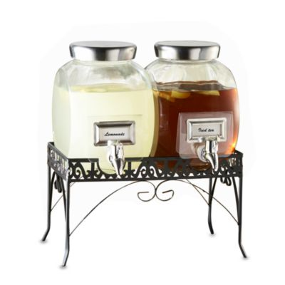 Williamsburg Glass Dispenser Set with Stand