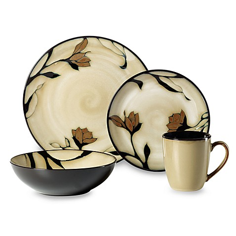 Mikasa® Gourmet Basics Gold Scroll 16-Piece Dinnerware Set