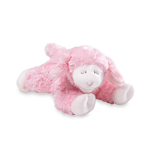 GUND Winky Plush Lamb Rattle in Pink