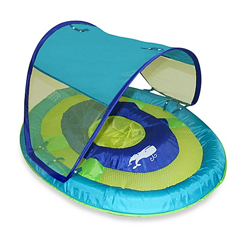 SwimWays Sun Shade Spring Float in Whale - buybuyBaby.com: www.buybuybaby.com/store/product/swimways-canopy-spring-float-in...