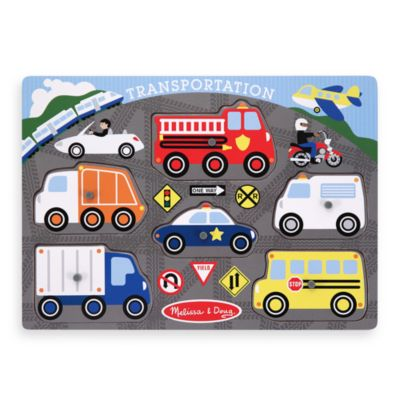 Melissa & Doug® Transportation Peg Puzzle