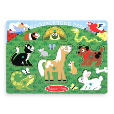 Melissa & Doug® Pet Animals Peg Puzzle