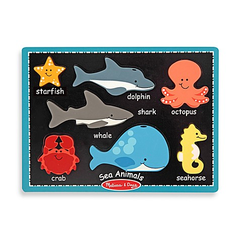 Melissa & Doug® Sea Animals First Chunky Puzzle