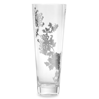 "Marchesa by Lenox® Painted Camellia 12 1/2"" H Crystal Vase"