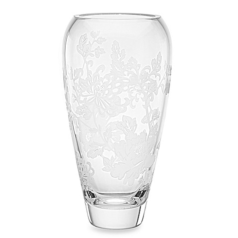 Marchesa by Lenox® Painted Camellia 9 3/4-Inch Crystal Vase