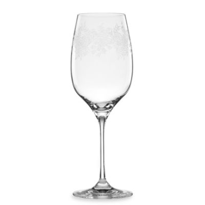 Marchesa by Lenox® Paisley Bloom Crystal 14-Ounce White Wine Glass