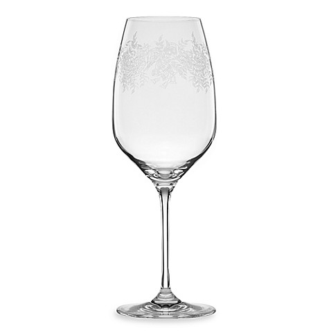Buy marchesa by lenox paisley bloom crystal 21 ounce red wine glass from bed bath beyond - Lenox stemless red wine glasses ...