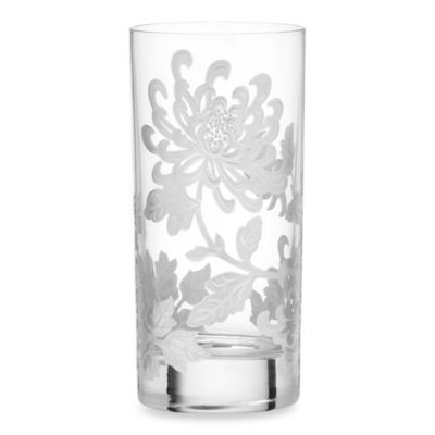 Marchesa by Lenox® Painted Camellia Crystal Highball Glass