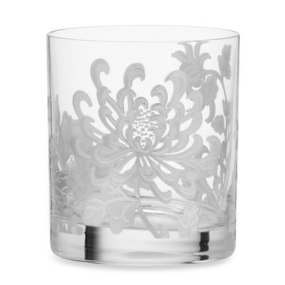 Marchesa by Lenox® Painted Camellia Crystal Double Old Fashioned Glass