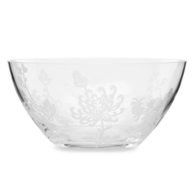 Marchesa by Lenox® Painted Camellia Frosted Crystal Bowl