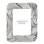 Marchesa by Lenox® Pleated Swirl 5-Inch x 7-Inch Metal Frame