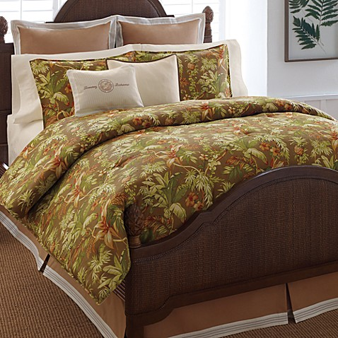 Tommy bahama home tropical harvest comforter set bed Tommy bahama bedding