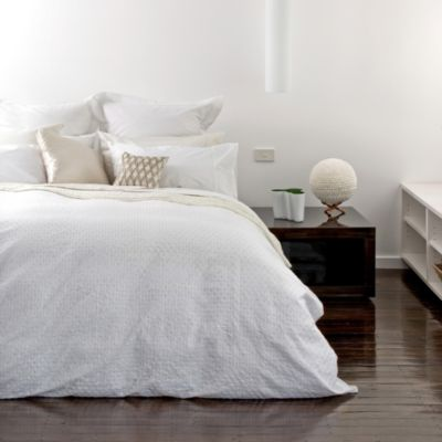 KAS® White Capri Duvet Cover Set