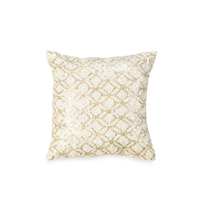 KAS® White Capri 12-Inch Square Throw Pillow