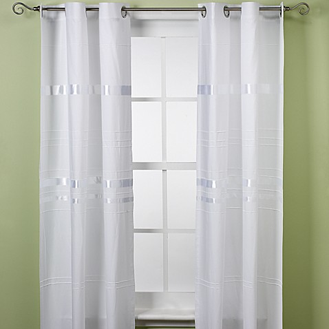KAS® White Avis 84-Inch Window Curtain Panel Pair