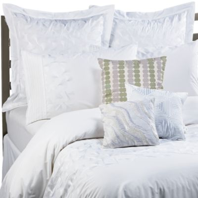 KAS® White Ginko Duvet Cover Set