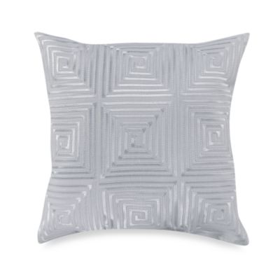 KAS® White Ginko 14-Inch Square Toss Pillow