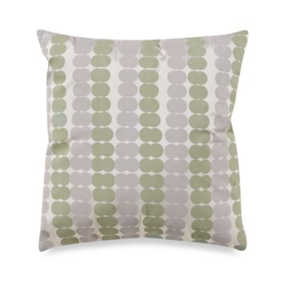 KAS® White Ginko 17-Inch Square Toss Pillow